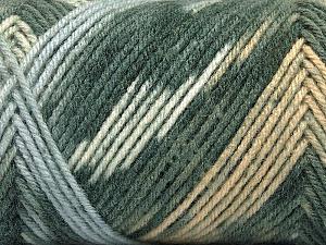 Fiber Content 50% Acrylic, 50% Wool, White, Light Brown, Light Blue, Brand Ice Yarns, Grey Shades, Yarn Thickness 3 Light  DK, Light, Worsted, fnt2-56443