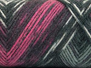 Fiber Content 50% Wool, 50% Acrylic, Pink, Brand Ice Yarns, Grey Shades, Yarn Thickness 3 Light  DK, Light, Worsted, fnt2-56445