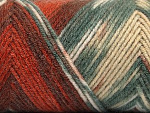 Fiber Content 50% Acrylic, 50% Wool, Brand Ice Yarns, Grey, Copper, Cafe Latte, Brown, Yarn Thickness 3 Light  DK, Light, Worsted, fnt2-56446