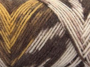 Fiber Content 50% Wool, 50% Acrylic, Yellow, Brand Ice Yarns, Cream, Brown Shades, Yarn Thickness 3 Light  DK, Light, Worsted, fnt2-56448