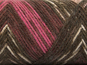 Fiber Content 50% Wool, 50% Acrylic, Pink, Maroon, Brand Ice Yarns, Brown Shades, Yarn Thickness 3 Light  DK, Light, Worsted, fnt2-56450