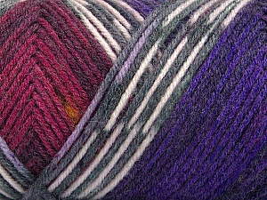 Fiber Content 50% Wool, 50% Acrylic, White, Purple, Brand Ice Yarns, Grey, Burgundy, Yarn Thickness 3 Light  DK, Light, Worsted, fnt2-56453