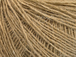 Fiber Content 50% Wool, 50% Acrylic, Light Camel, Brand Ice Yarns, Yarn Thickness 2 Fine  Sport, Baby, fnt2-56488