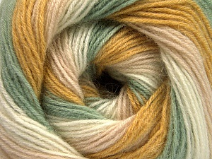 Fiber Content 60% Acrylic, 20% Wool, 20% Angora, Light Pink, Brand Ice Yarns, Green, Gold, Cream, Yarn Thickness 2 Fine  Sport, Baby, fnt2-56670