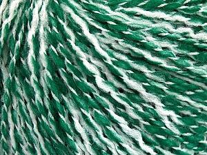 Fiber Content 60% Acrylic, 20% Polyamide, 20% Wool, White, Brand Ice Yarns, Green, Yarn Thickness 3 Light  DK, Light, Worsted, fnt2-56772