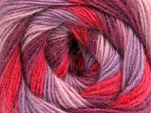 Fiber Content 60% Acrylic, 20% Wool, 20% Angora, Salmon, Pink, Orchid, Lilac, Brand Ice Yarns, Yarn Thickness 2 Fine  Sport, Baby, fnt2-56859
