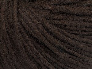 Fiber Content 50% Wool, 50% Acrylic, Brand Ice Yarns, Dark Brown, Yarn Thickness 4 Medium  Worsted, Afghan, Aran, fnt2-57002