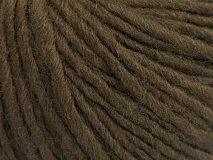 Fiber Content 50% Acrylic, 50% Wool, Brand Ice Yarns, Dark Brown, Yarn Thickness 4 Medium  Worsted, Afghan, Aran, fnt2-57006