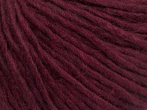 Fiber Content 50% Wool, 50% Acrylic, Brand Ice Yarns, Burgundy, Yarn Thickness 4 Medium  Worsted, Afghan, Aran, fnt2-57013