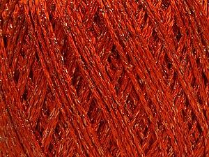 Fiber Content 85% Viscose, 15% Metallic Lurex, Orange, Brand Ice Yarns, Copper, Yarn Thickness 3 Light  DK, Light, Worsted, fnt2-57041
