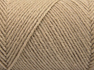 Fiber Content 50% Wool, 50% Acrylic, Brand Ice Yarns, Cafe Latte, Yarn Thickness 3 Light  DK, Light, Worsted, fnt2-57173