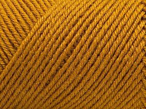 Fiber Content 50% Wool, 50% Acrylic, Brand Ice Yarns, Gold, Yarn Thickness 3 Light  DK, Light, Worsted, fnt2-57174