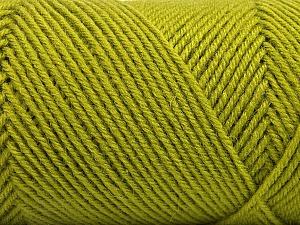 Fiber Content 50% Wool, 50% Acrylic, Brand Ice Yarns, Green, Yarn Thickness 3 Light  DK, Light, Worsted, fnt2-57175