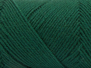 Fiber Content 50% Wool, 50% Acrylic, Brand Ice Yarns, Dark Green, Yarn Thickness 3 Light  DK, Light, Worsted, fnt2-57176