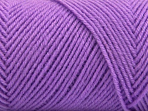 Fiber Content 50% Wool, 50% Acrylic, Lilac, Brand Ice Yarns, Yarn Thickness 3 Light  DK, Light, Worsted, fnt2-57177