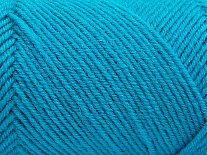 Fiber Content 50% Acrylic, 50% Wool, Turquoise, Brand Ice Yarns, Yarn Thickness 3 Light  DK, Light, Worsted, fnt2-57179