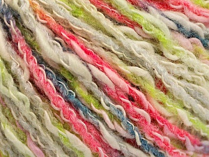 Fiber Content 50% Acrylic, 50% Cotton, White, Light Green, Brand Ice Yarns, Grey, Fuchsia, Yarn Thickness 4 Medium  Worsted, Afghan, Aran, fnt2-57285