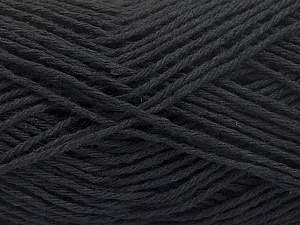 Fiber Content 100% Cotton, Brand Ice Yarns, Black, Yarn Thickness 2 Fine  Sport, Baby, fnt2-57291