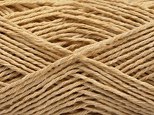 Fiber Content 100% Cotton, Brand Ice Yarns, Beige, Yarn Thickness 2 Fine  Sport, Baby, fnt2-57299