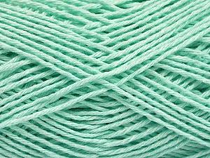 Fiber Content 100% Cotton, Light Mint Green, Brand Ice Yarns, Yarn Thickness 2 Fine  Sport, Baby, fnt2-57311