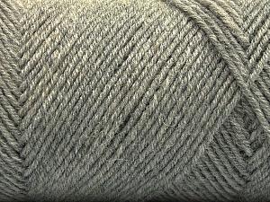 Fiber Content 50% Wool, 50% Acrylic, Brand Ice Yarns, Grey, Yarn Thickness 3 Light  DK, Light, Worsted, fnt2-57345