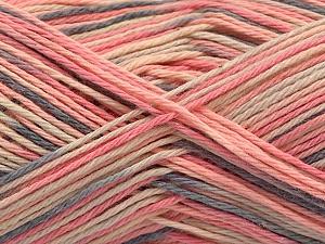 Fiber Content 100% Acrylic, Pink Shades, Brand Ice Yarns, Grey, Cream, Yarn Thickness 2 Fine  Sport, Baby, fnt2-57362