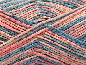 Fiber Content 100% Acrylic, Pink Shades, Jeans Blue, Brand Ice Yarns, Yarn Thickness 2 Fine  Sport, Baby, fnt2-57364
