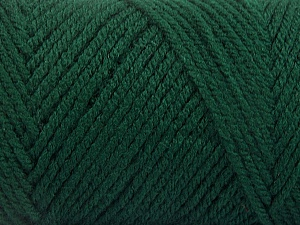 Items made with this yarn are machine washable & dryable. Fiber Content 100% Acrylic, Brand Ice Yarns, Dark Green, Yarn Thickness 4 Medium  Worsted, Afghan, Aran, fnt2-57414