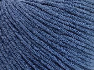 Fiber Content 50% Acrylic, 50% Cotton, Brand Ice Yarns, Blue, Yarn Thickness 3 Light  DK, Light, Worsted, fnt2-57441