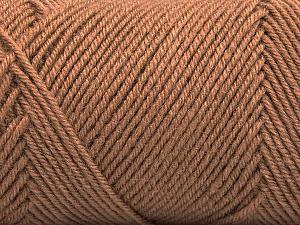 Fiber Content 50% Acrylic, 50% Wool, Brand Ice Yarns, Camel, Yarn Thickness 3 Light  DK, Light, Worsted, fnt2-57729