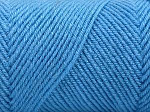 Fiber Content 50% Wool, 50% Acrylic, Light Blue, Brand Ice Yarns, Yarn Thickness 3 Light  DK, Light, Worsted, fnt2-57731
