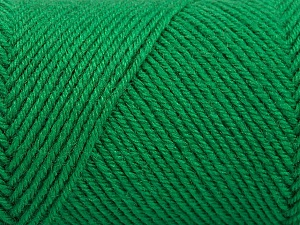 Fiber Content 50% Acrylic, 50% Wool, Brand Ice Yarns, Green, Yarn Thickness 3 Light  DK, Light, Worsted, fnt2-57733