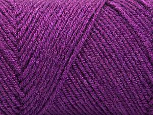 Fiber Content 50% Wool, 50% Acrylic, Purple, Brand Ice Yarns, Yarn Thickness 3 Light  DK, Light, Worsted, fnt2-57734