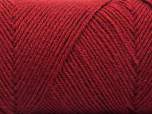 Fiber Content 50% Wool, 50% Acrylic, Brand Ice Yarns, Burgundy, Yarn Thickness 3 Light  DK, Light, Worsted, fnt2-57735