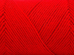 Fiber Content 50% Acrylic, 50% Wool, Red, Brand Ice Yarns, Yarn Thickness 3 Light  DK, Light, Worsted, fnt2-57736