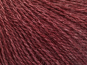 Fiber Content 65% Merino Wool, 35% Silk, Brand Ice Yarns, Burgundy, Yarn Thickness 1 SuperFine  Sock, Fingering, Baby, fnt2-57859