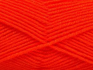 Fiber Content 60% Acrylic, 40% Wool, Neon Orange, Brand Ice Yarns, Yarn Thickness 3 Light  DK, Light, Worsted, fnt2-58337