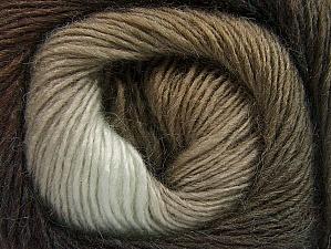 Fiber Content 60% Premium Acrylic, 20% Wool, 20% Alpaca, Brand Ice Yarns, Brown Shades, Yarn Thickness 2 Fine  Sport, Baby, fnt2-58396