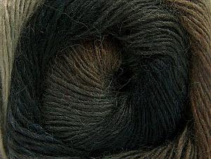 Fiber Content 60% Premium Acrylic, 20% Wool, 20% Alpaca, Brand Ice Yarns, Brown Shades, Anthracite, Yarn Thickness 2 Fine  Sport, Baby, fnt2-58397