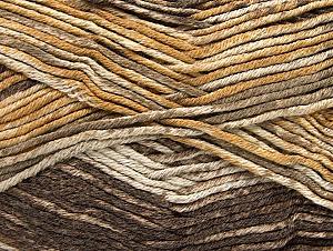 Fiber Content 50% Premium Acrylic, 50% Cotton, Brand Ice Yarns, Brown Shades, Yarn Thickness 2 Fine  Sport, Baby, fnt2-58410