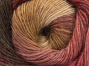 Fiber Content 60% Premium Acrylic, 20% Wool, 20% Alpaca, Brand Ice Yarns, Burgundy, Brown Shades, Yarn Thickness 2 Fine  Sport, Baby, fnt2-58418