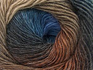 Fiber Content 60% Premium Acrylic, 20% Wool, 20% Alpaca, Brand Ice Yarns, Brown Shades, Blue Shades, Yarn Thickness 2 Fine  Sport, Baby, fnt2-58419