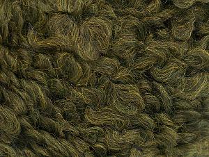 Fiber Content 9% Wool, 80% Acrylic, 11% Polyamide, Khaki, Brand Ice Yarns, Yarn Thickness 5 Bulky  Chunky, Craft, Rug, fnt2-58505