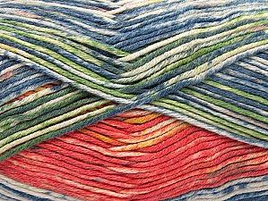 Fiber Content 50% Cotton, 50% Premium Acrylic, Salmon, Brand Ice Yarns, Green, Gold, Blue Shades, Yarn Thickness 2 Fine  Sport, Baby, fnt2-58690