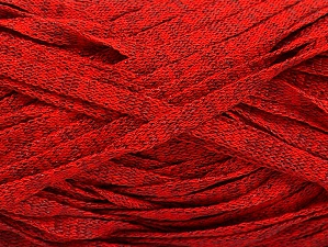 Fiber Content 82% Viscose, 18% Polyester, Red Melange, Brand Ice Yarns, Yarn Thickness 5 Bulky  Chunky, Craft, Rug, fnt2-58905