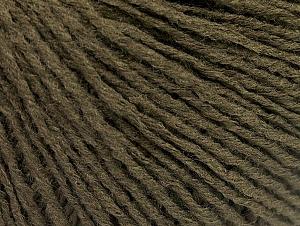 Fiber Content 50% Acrylic, 50% Wool, Brand Ice Yarns, Dark Khaki, Yarn Thickness 3 Light  DK, Light, Worsted, fnt2-58935