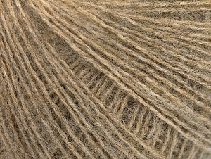 Fiber Content 55% Acrylic, 5% Polyester, 15% Wool, 15% Alpaca, 10% Viscose, Brand Ice Yarns, Beige, Yarn Thickness 2 Fine  Sport, Baby, fnt2-59207