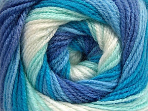 Fiber Content 100% Baby Acrylic, White, Turquoise, Lavender, Brand Ice Yarns, Blue, Yarn Thickness 2 Fine  Sport, Baby, fnt2-59313