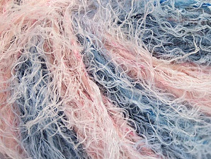 Fiber Content 40% Viscose, 30% Wool, 30% Polyamide, Pink Shades, Indigo Blue, Brand Ice Yarns, Yarn Thickness 5 Bulky  Chunky, Craft, Rug, fnt2-59589