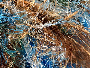 Fiber Content 100% Polyester, Brand Ice Yarns, Green, Gold, Brown, Blue, Yarn Thickness 6 SuperBulky  Bulky, Roving, fnt2-59697